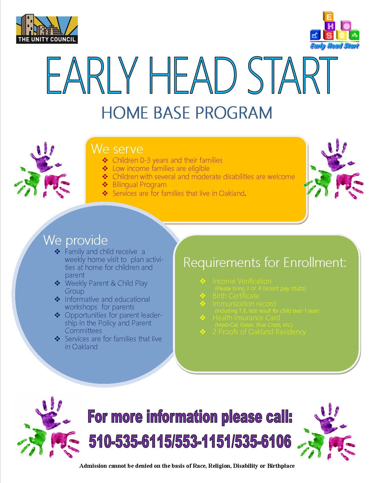 Early Head Start Home Base Program First 5 Alameda County